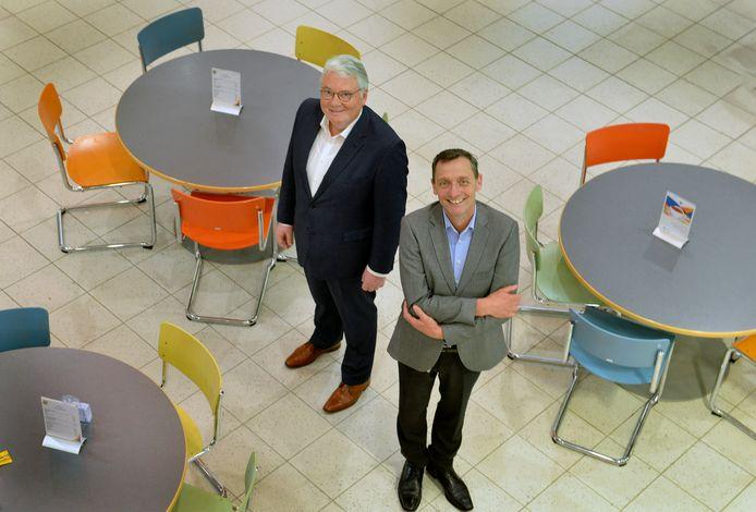 Marc Hendriks (links) en Paul Verploegen in het Tielse Ziekenhuis.