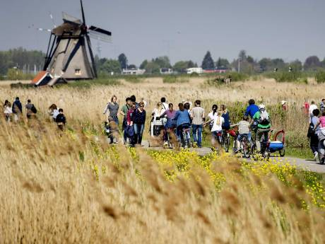 Grote drukte bij Kinderdijk: 'Kom op een andere dag'