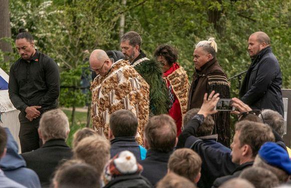Delegaties uit Nieuw-Zeeland woonden de inhuldiging bij.