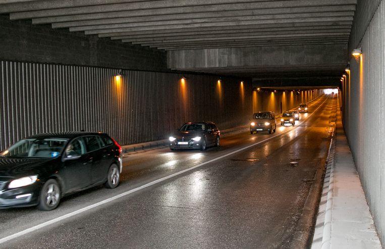 De stationstunnel in Sint-Niklaas.