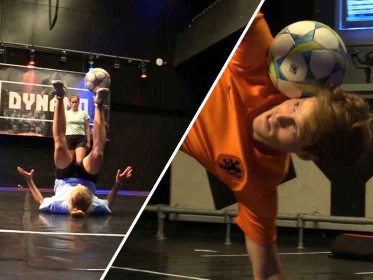 Hooghouden voor gevorderden tijdens NK Freestyle Voetbal: 'Het is zo vrij, je mag alles doen'