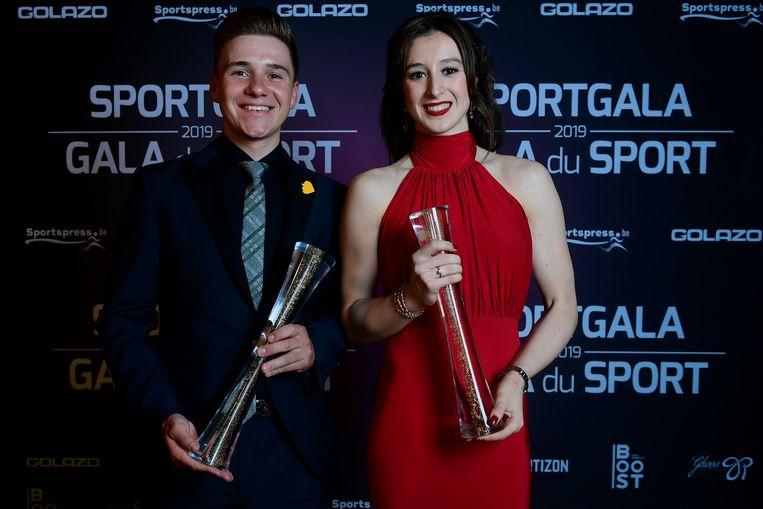 Winnaars Remco Evenepoel en Nina Derwael