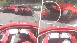 "'Ferrari Tutti Schrotti' nadat Leclerc inrijdt op ploegmaat Vettel: ""Ik weet niet waar hij gaatje zag"""