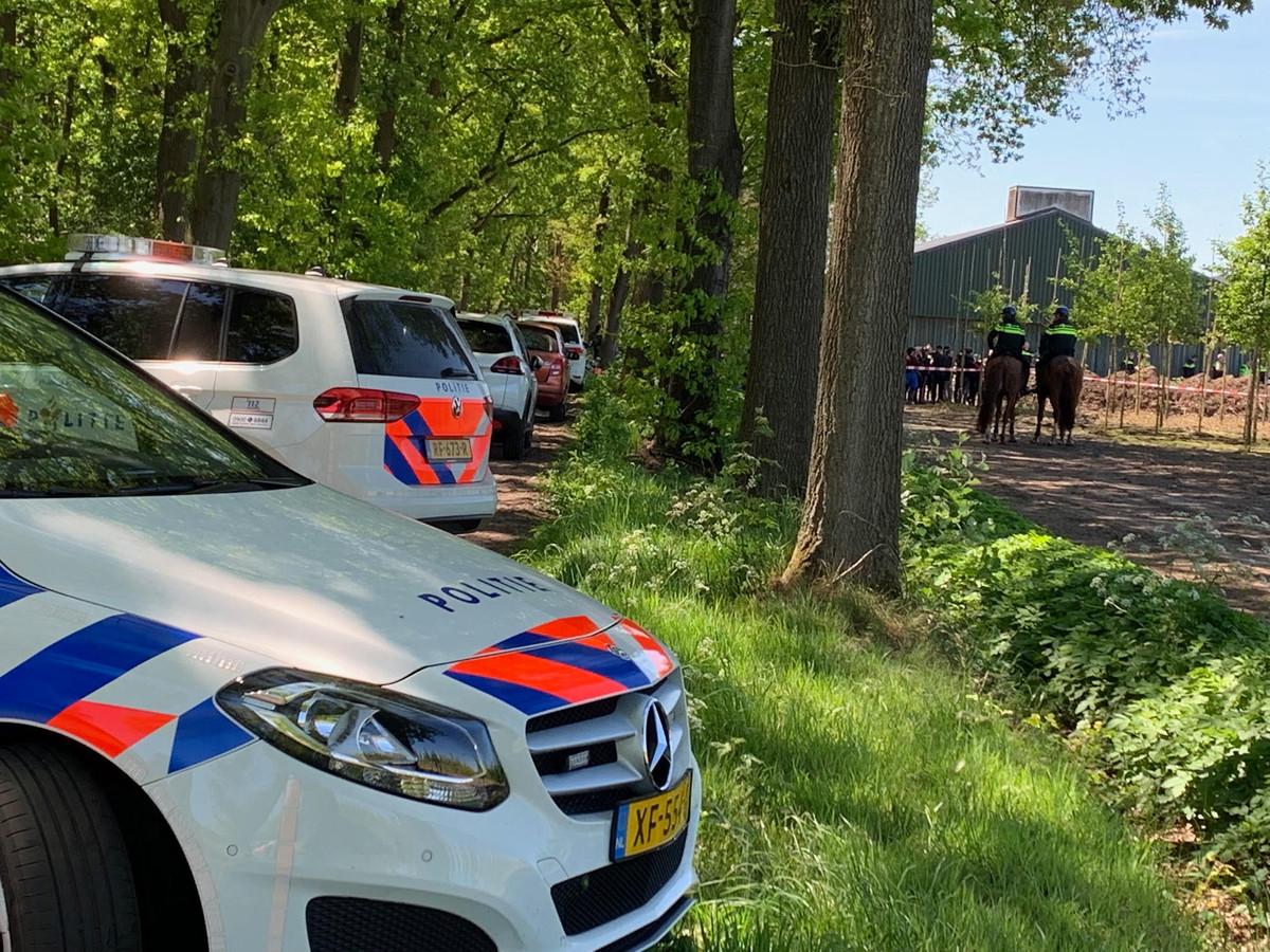 Actievoerders bezetten boerderij in Boxtel.