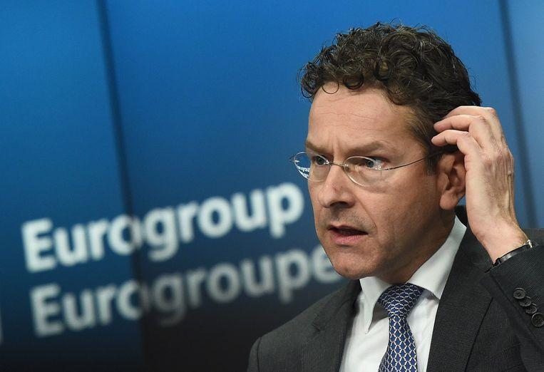 """Eurogroepvoorzitter Dijsselboem stelt dat het """"duidelijk"""" is dat de bal in het kamp van de Grieken ligt."""