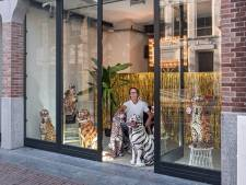 Een hoop goud en porseleinen tijgerbeelden: dit is de opvallendste etalage van Amersfoort