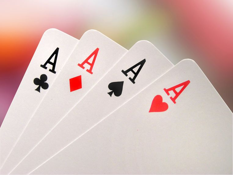Aces (isolated with clipping path), azen, aas, kaartspel, kaarten