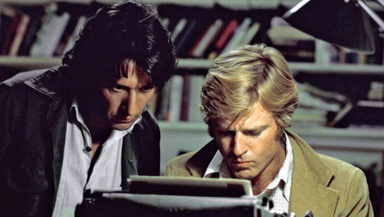 All the President's Men, met links Dustin Hoffman als Carl Bernstein. Deze film is vanavond op tv en Twan Huys interviewt Bernstein vanavond voor College Tour. Beeld