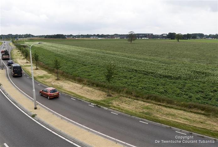 Deel van het perceel aan de Horstweg in Vriezenveen dat door de gemeente is aangekocht.