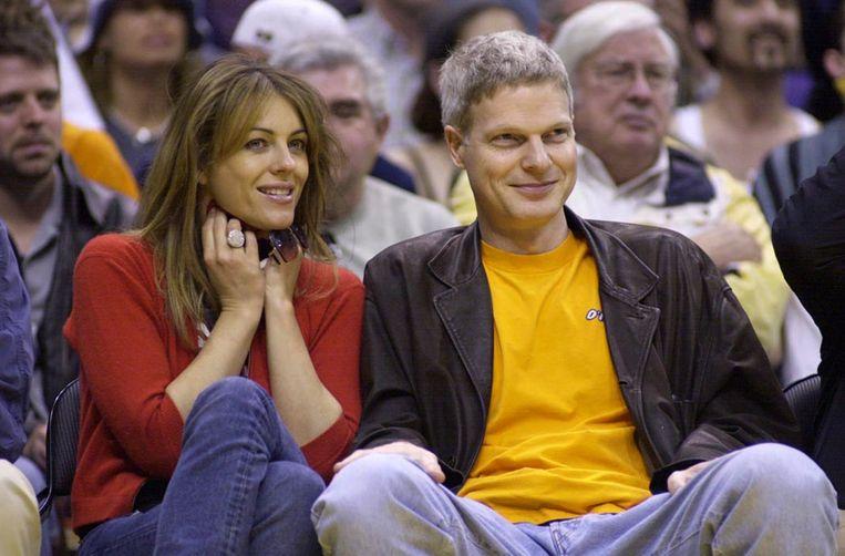 Steve Bing met z'n ex, actrice Liz Hurley.