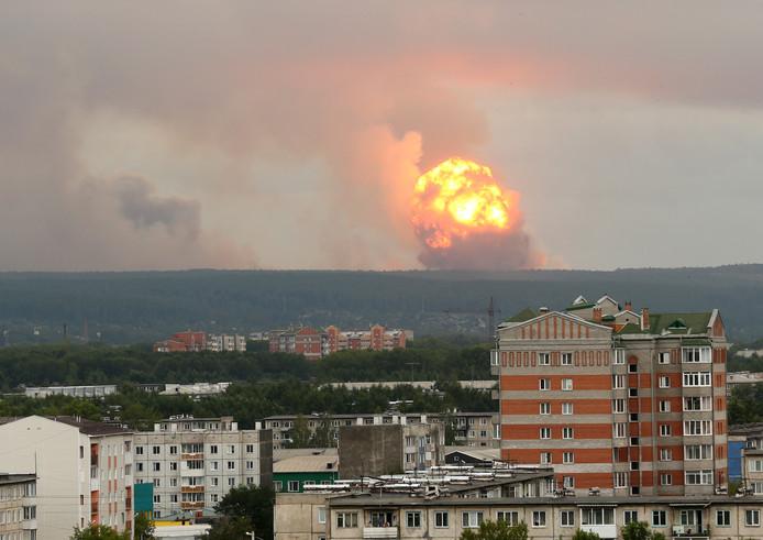 """Le 8 août 2019 à 12H00 (09H00 GMT), soit juste après l'explosion, """"six des huit capteurs de Severodvinsk ont enregistré des dépassements de la puissance des doses de radiation (qui a alors été) de quatre à seize fois supérieure à celle habituelle"""", a annoncé Rosguidromet dans un communiqué."""