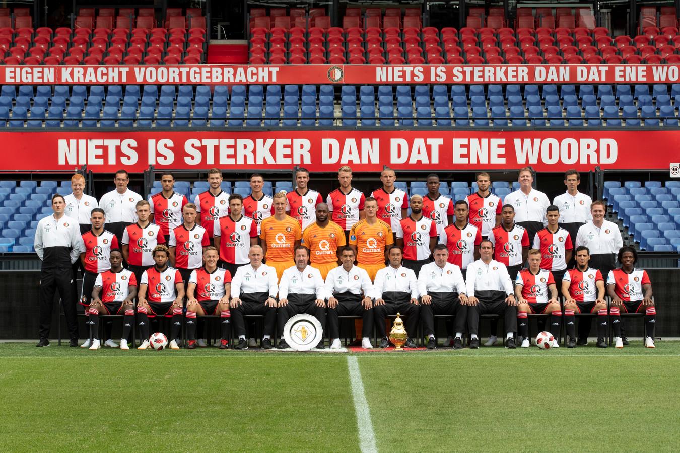 De selectie van Feyenoord.