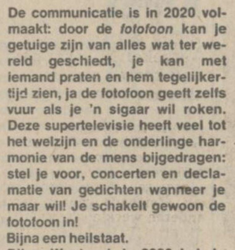 (Gerrit Komrij in 1978 over Maurits Wagenvoorts' toekomstbeeld uit 1923) Beeld
