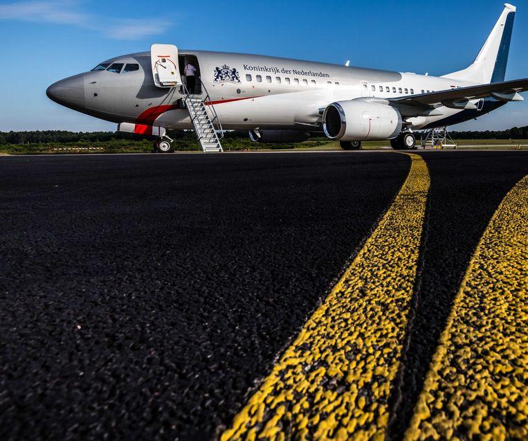 Het regeringsvliegtuig, de PH-GOV.  Beeld ANP