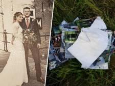 Echtpaar vindt gestolen trouwboek terug, in stukken gescheurd en gedumpt langs de A28