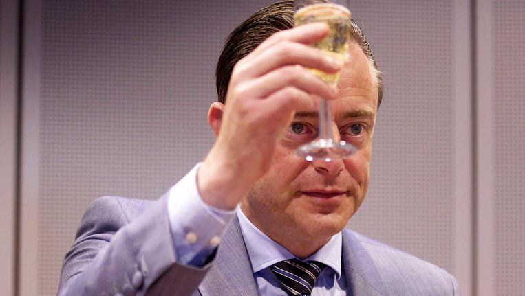 Bart de Wever, gisteren in Brussel. Beeld BELGA