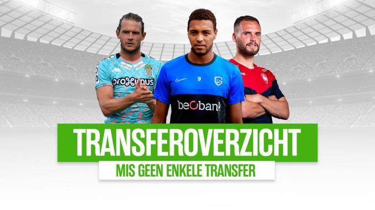Het transferoverzicht van de Jupiler Pro League.