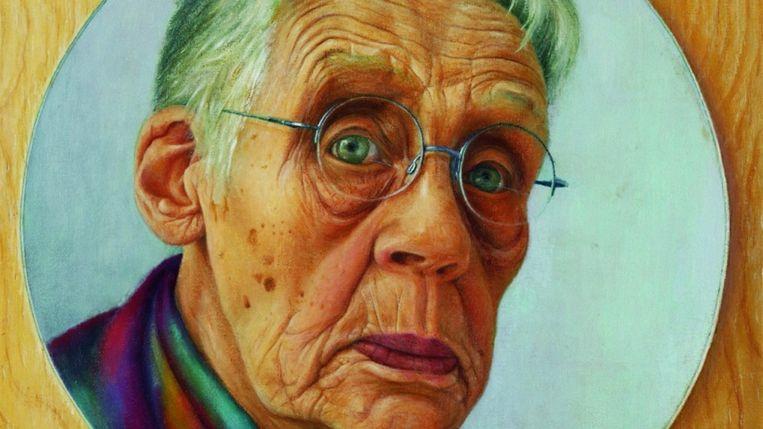 Zelfportret door Riek Milikowski-de Raat. Beeld