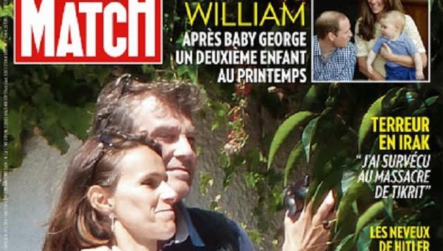 Capture d'écran: la couverture de Paris Match à paraître jeudi