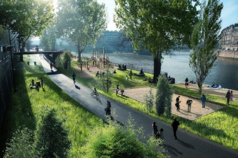 Metamorfose van de Seine. Beeld Luxigon via The Guardian