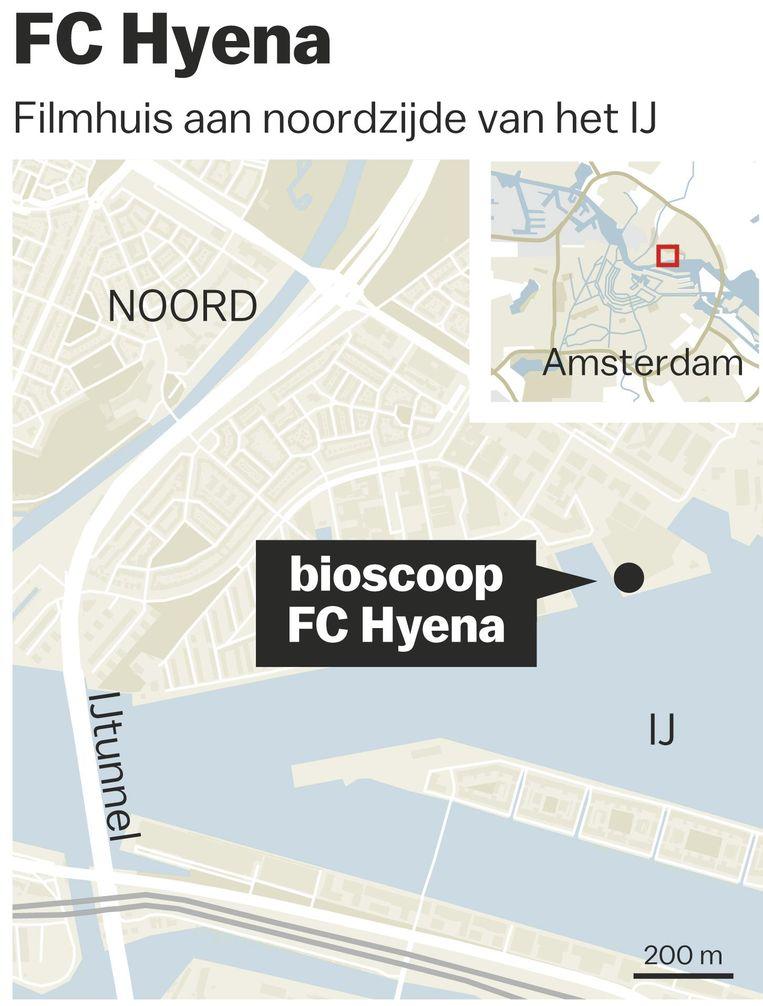 FC Hyena ligt niet zo ver van Eye, de grote, gesubsidieerde bioscoop in Noord Beeld Laura Van Der Bijl