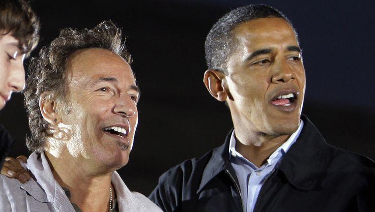 Bruce Springsteen en de Amerikaanse president Barack Obama. Beeld ap