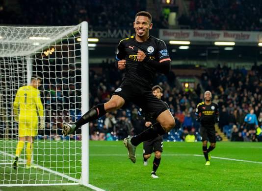 Gabriel Jesus maakte de 0-1 en de 0-2 namens Manchester City.
