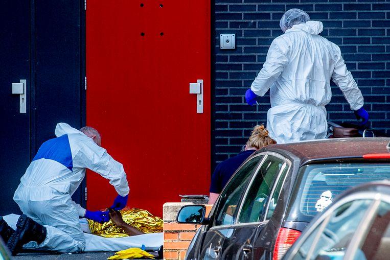 Miriondy Leuteria werd eerder deze maand op straat in Hoofddorp gedood.  Beeld Hollandse Hoogte / Robin Utrecht