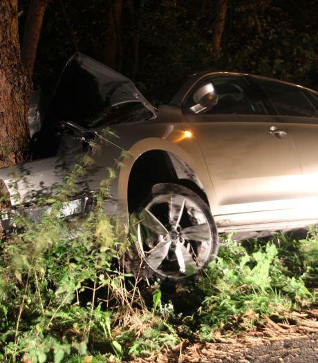 Automobilist knalt vol tegen boom bij  Sallandse Heuvelrug