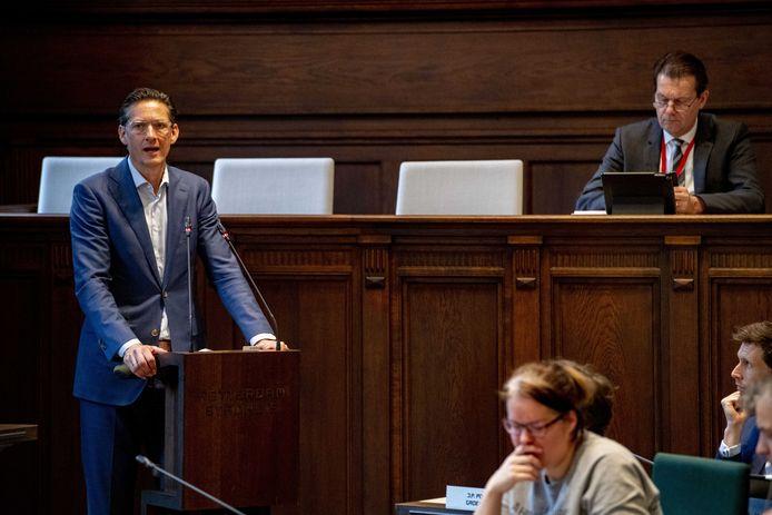 Joost Eerdmans, fractievoorzitter van Leefbaar Rotterdam.