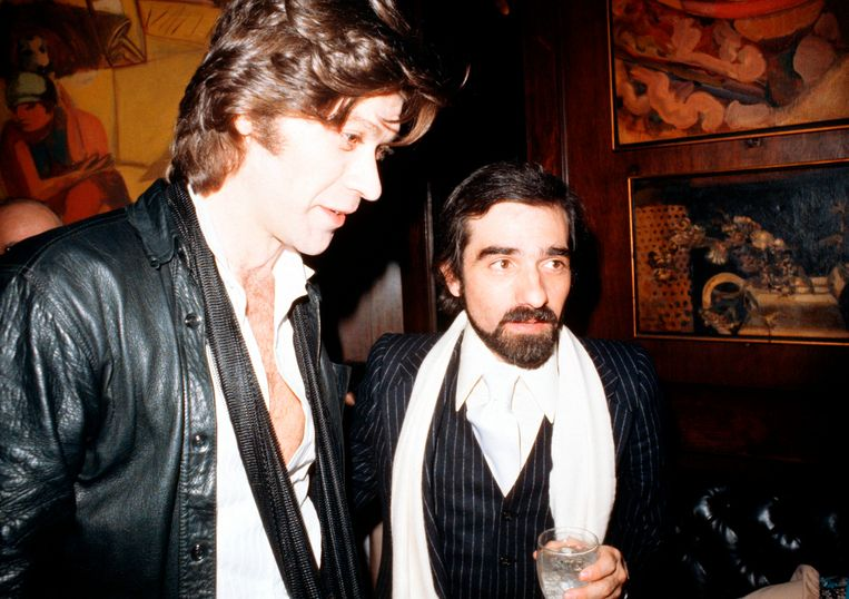 Robbie Robertson (links) en Martin Scorsese in 1978. Beeld Getty