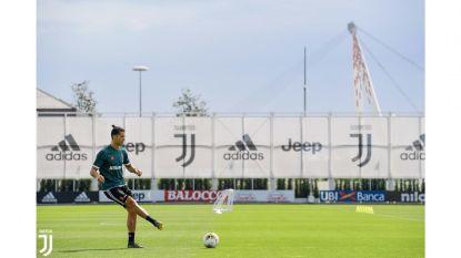 Cristiano topfit terug op training bij Juve