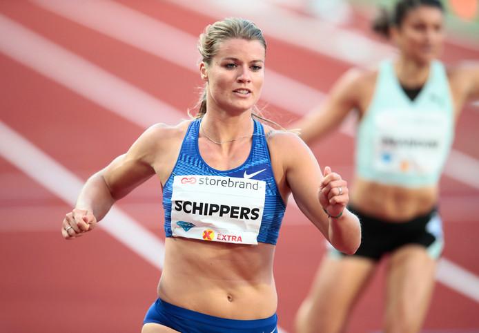 Sprintkampioene Dafne Schippers.