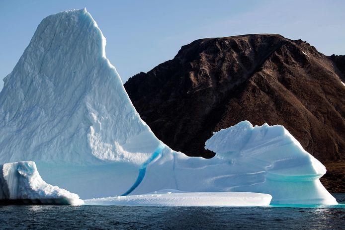 Een ijsberg op Groenland (foto gemaakt op 17 augustus).