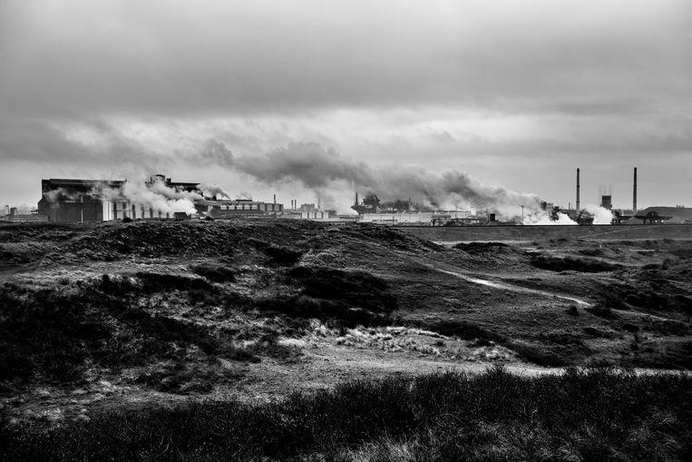 Staalfabriek van Tata Steel bij IJmuiden. In de loop der jaren hebben zich tientallen asbestslachtoffers bij het  bedrijf gemeld. Lang niet iedereen kreeg het gewenste smartengeld. Beeld Sébastien van Malleghem
