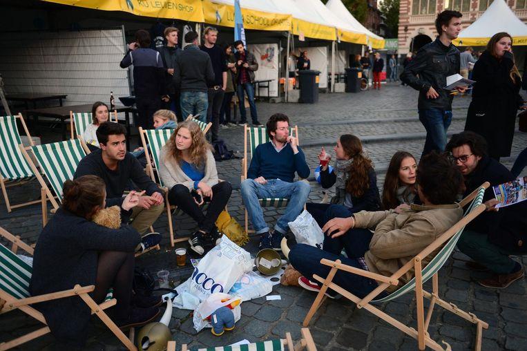 Er wordt opnieuw veel volk verwacht voor het Studentenwelkom op het Ladeuzeplein.