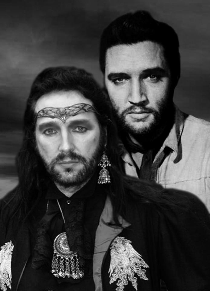 Cor Vermeulen en Elvis. Foto Familie Vermeulen
