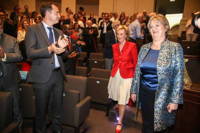 Marleen Temmerman werd gevierd in aanwezigheid van prinses Astrid en minister Alexander De Croo.