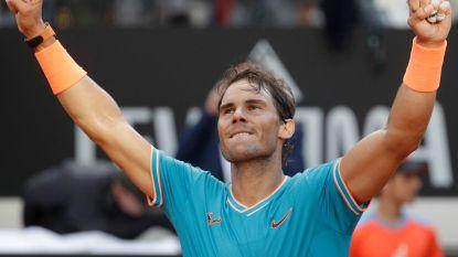 Nadal klopt Djokovic en verovert negende titel Rome, Pliskova triomfeert bij de dames