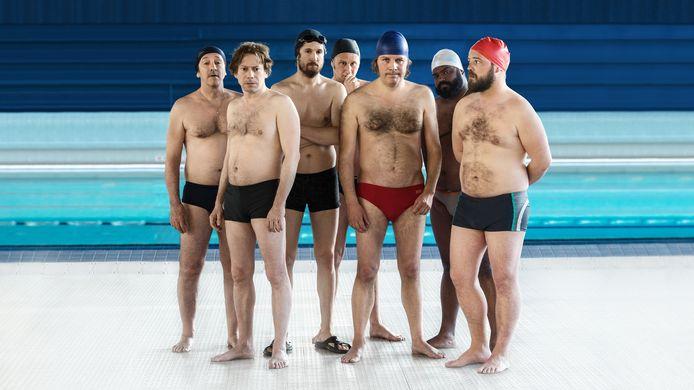 De film Le Grand Bain over een groep synchroonzwemmende mannen van middelbare leeftijd was populair.