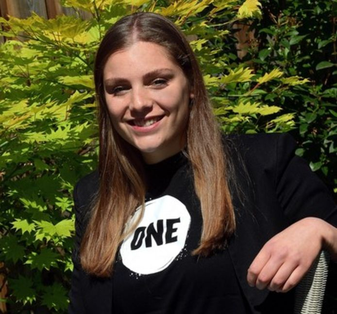 Emma de Jong, jeugdambassadeur voor One