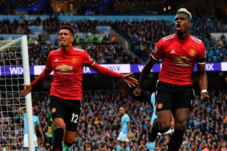 Chris Smalling en Paul Pogba, de twee boosdoeners voor Man City dit weekend.