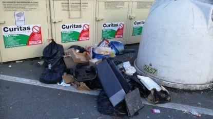 Opnieuw afval gedumpt aan kledingcontainers