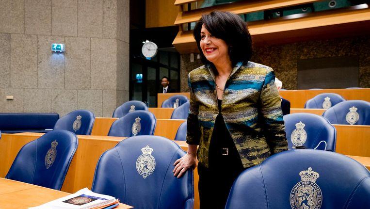 Khadija Arib is woensdag door een grote meerderheid herkozen als voorzitter van de Tweede Kamer Beeld ANP