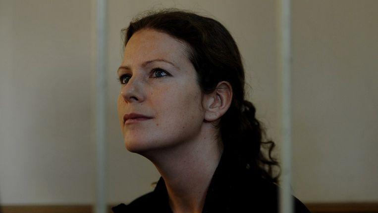 De Braziliaanse activiste Ana Paula Alminhana Maciel Beeld afp