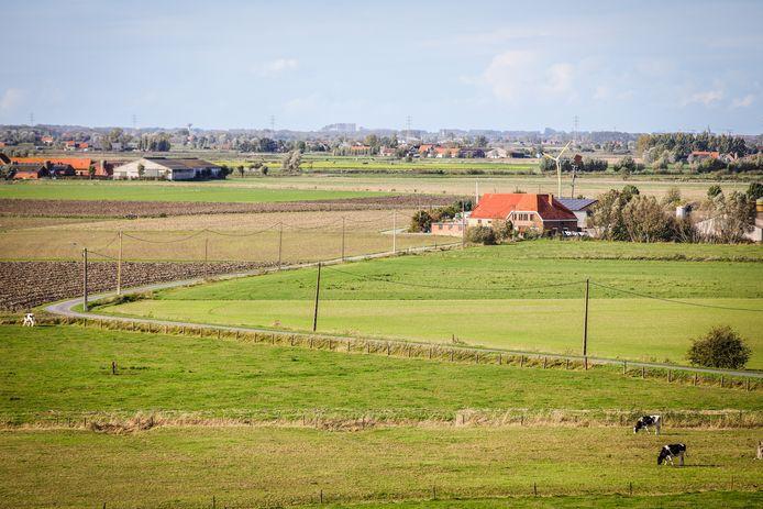 Een zicht op Beerstblote, één van de vele uitgestrekte gebieden in Diksmuide
