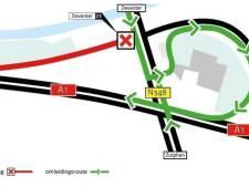 Drie weken lang linksaf in plaats van rechts om bij Deventer de A1 naar Apeldoorn op te komen