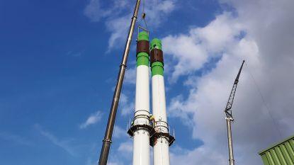 62 meter hoog: verbrandingsoven IVM heeft twee nieuwe schoorstenen