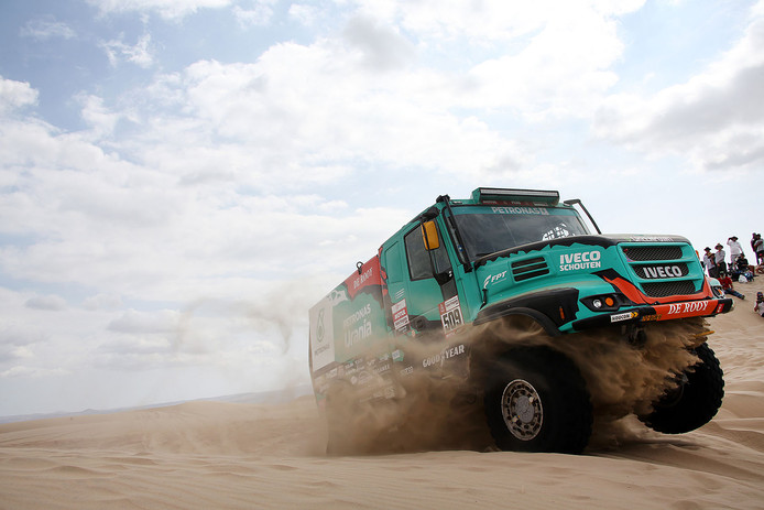 Ton van Genugten in de Dakar Rally 2019.