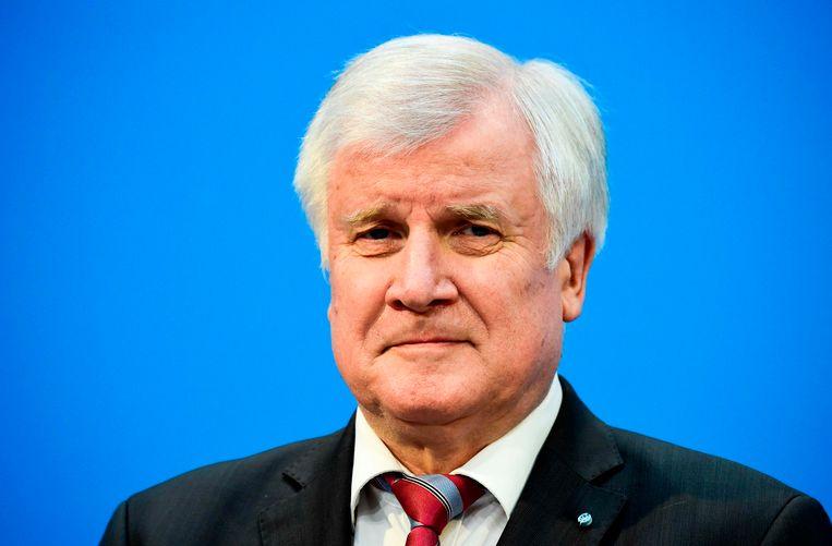 Horst Seehofer, die de nieuwe minister van Binnenlandse Zaken en Heimat wordt.